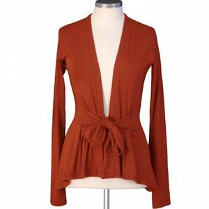 KM Collection | Ginger Red Knit Wrap Cardigan